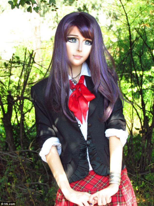 Real-Life Anime Girl: Anastasiya Shpagina Turns Herself Into Cartoon (Courtesy Anastasiya Shpagina  Facebook)