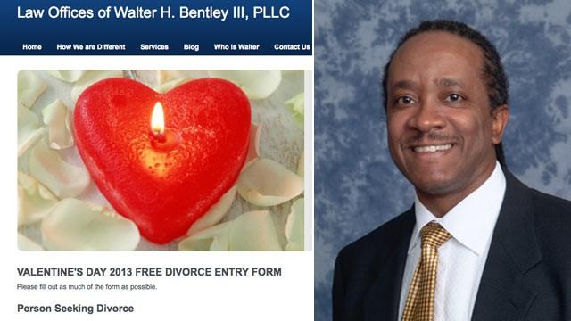Free Divorce on Valentine's Day, Lawyer Runs Strange Conest