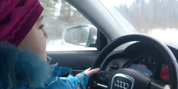 Girl Drives 60 mph, Forced By Father