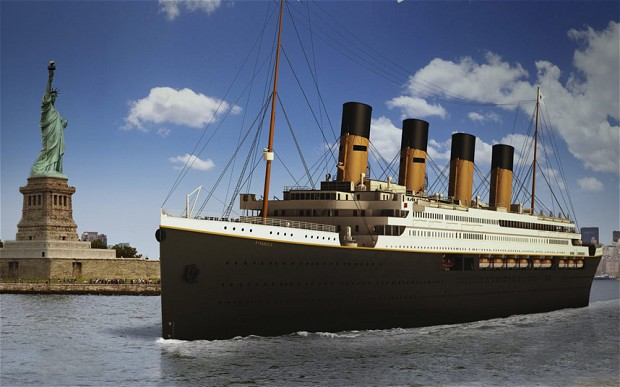 An artist's impression of the transatlantic ocean liner Titanic II Photo: Blue Star Line