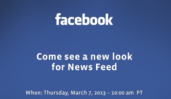 Facebook New Look For News Feed
