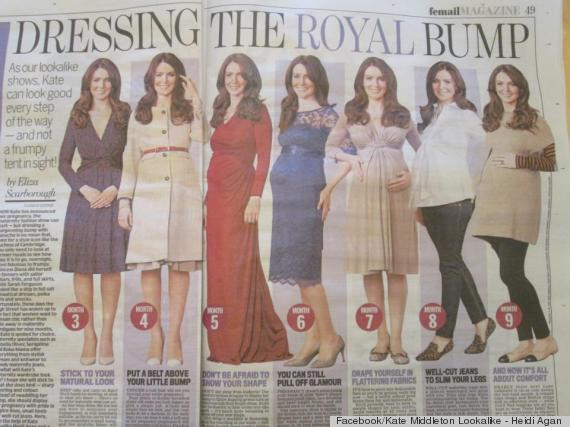 kate middleton impersonator has baby bump (PHOTO)