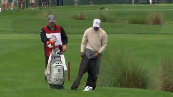 Tiger Woods Barefoot Shot Becomes Instant Classic
