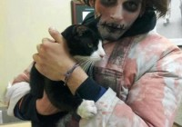 Zombie Rescues Cat: Jeremy Zelkowitz Takes Break From Brains To Rescue Kitty