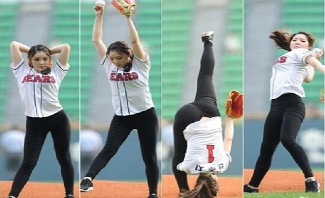 Shin Soo-ji pitch Could Be The Coolest Opening Pitch Ever (VIDEO)