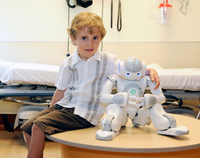 This won't hurt: robot helps kids who are petrified of injections