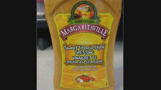 Canadian Food Inspection Agency Recalls Margaritaville Sweet French Style Dressing