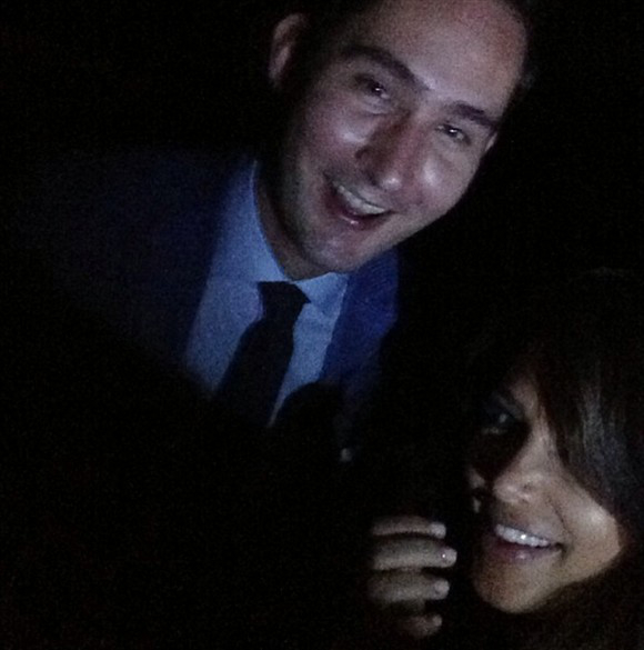 kim k, kevin systrom Pose For Instragram Shot (PHOTO)
