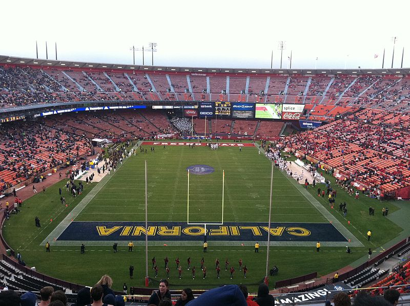 California and Fresno State competing at Candlestick Park in San Francisco on September 3, 2011.