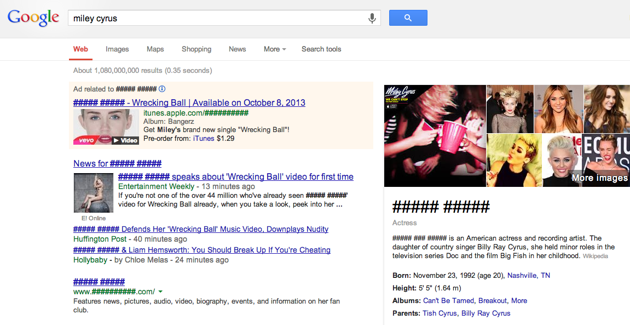 Block Miley Cyrus  With The Help Of Google Chrome Extension