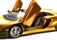 This multimillion dollar gold-plated Lamborghini model car will set you back $7.5 million. (Credit: Robert Gulpen Engineering) | Robert Gulpen Engineering