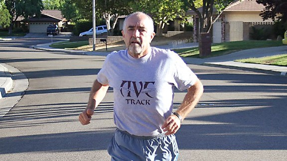 Courtesy of Mark Covert A foot injury will bring an end to 62-year-old Mark Covert's daily running streak on July 23.