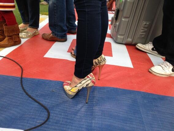 RG3 wife skins heels