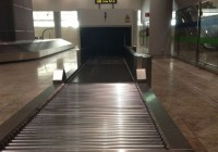 The luggage belt where the child was tragically killed in Alicante airport. The mother is believed to have climbed on to the conveyer belt
