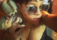 Rihanna Poses with Endangered Primate - Arrests Follow