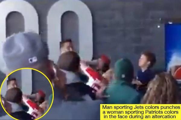 Fan punches woman