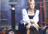 A new face: Carrie Underwood - seen here in a promotional photo for her live NBC version of The Sound Of Music - told Entertainment Weekly she's received 'hate tweets' for taking on the iconic role of Maria