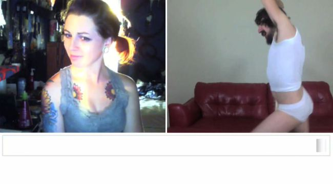 Chatroulette wrecking ball 8 (Picture: Steve Kardynal/YouTube)