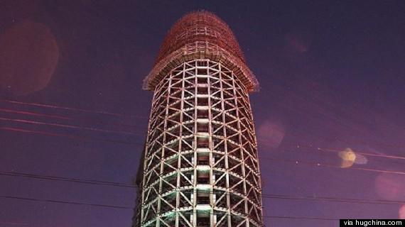 Chinese architect defends 'phallic'