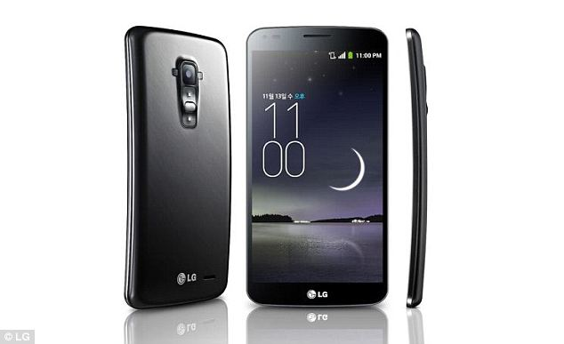 The two rumoured Apple phones are expected to curve along the side edges. This would make them more like LG's G Flex phone, pictured, rather than Samsung's Round handset that curves along the top and bottom edges. If Apple does follow LG's lead, the phones would curve comfortably with a user's face
