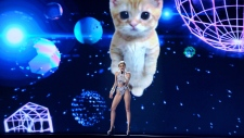 Miley Performs with Giant, Floating Cat at AMAs