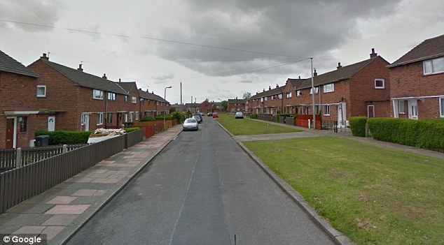 Location: Jason Airey, 37, was found unconscious by his parents next to the box, which contained unused synthetic cannabis, in the bedroom of their home on this road in Carlisle, Cumbria