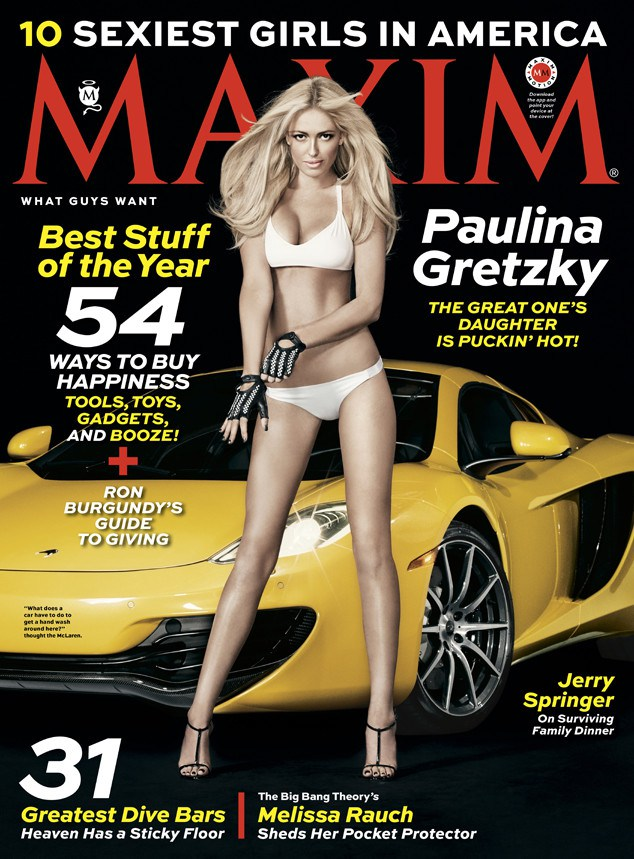 Paulina Gretzky maxim spread:  Gretzky Wears Bikini For First Major Cover