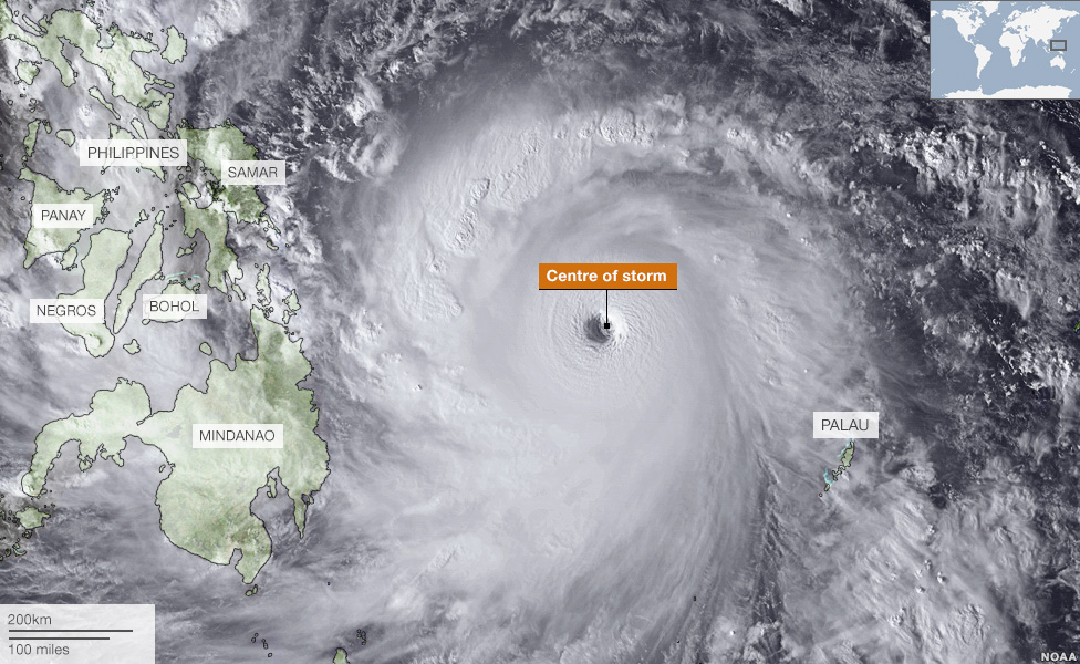 Philippines typhoon:  One Of The Largest Ever Recorded