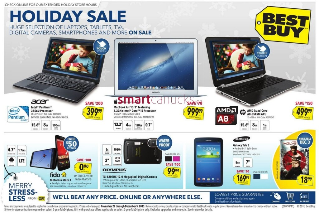 Best Buy Black Friday Sale In Canada:  Flyer Shows Amazing Deals