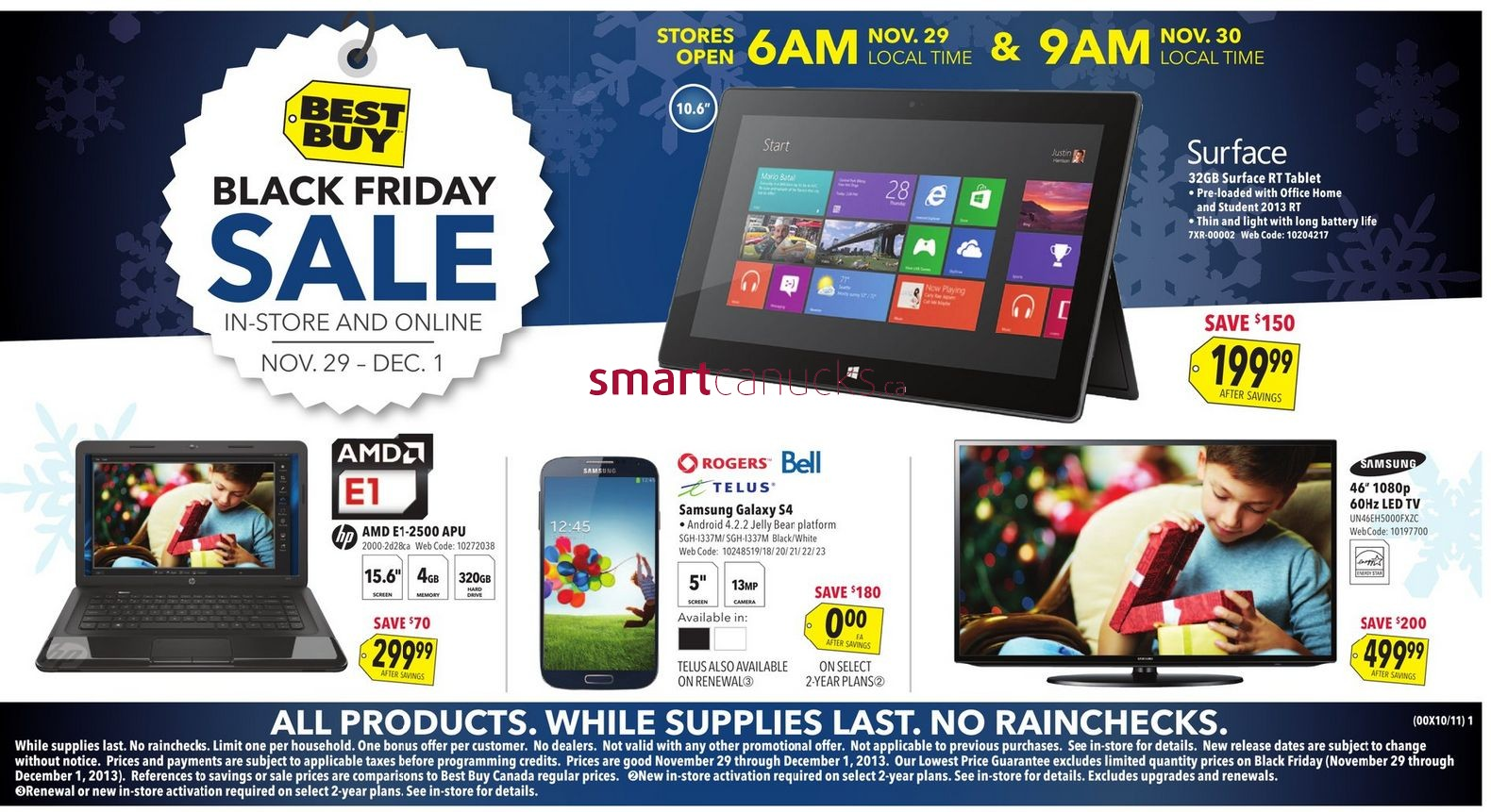 Best Buy Black Friday Continues All Weekend:  Flyer Shows Amazing Deals