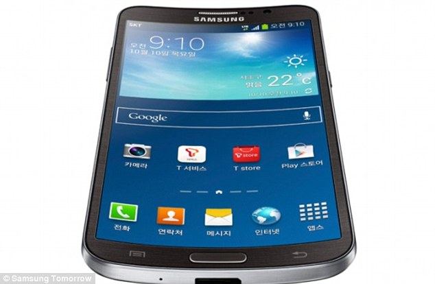 Samsung released its curved Galaxy Round phone, pictured,in October, followed shortly by LG's G Flex phone. Both phones are only currently available in Korea. The Round is curved along the top to make it more comfortable to hold in the hand