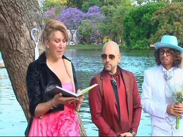 An Argentinian actor married a tree in a wedding ceremony intended to call attention to environmental concerns. | YouTube