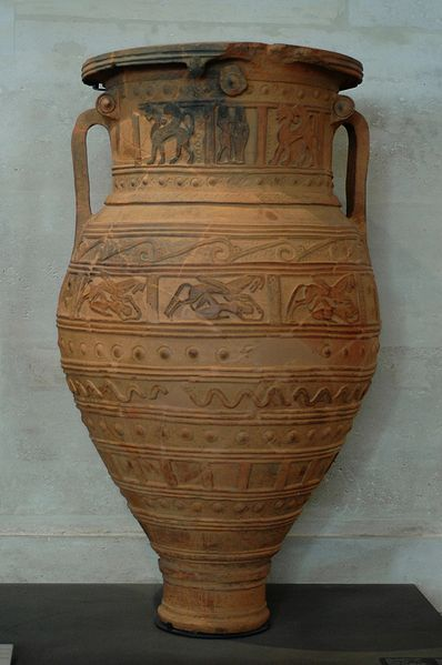 A pithos from Crete, ca. 675 BC. Louvre