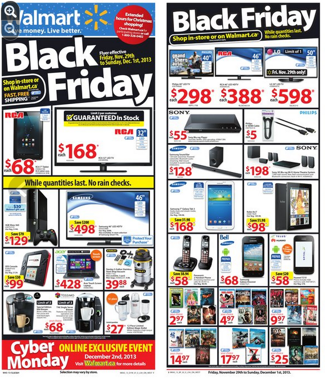 Walmart Black Friday Sale On Now:  Store Flyer Shows Great Deals