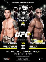 UFC 168 Fight Card: Anderson Silva VRS Chris Weidman