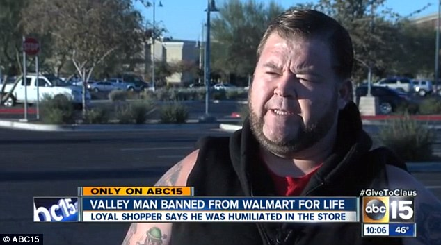 man banned from walmart Loyal shopper: Joe Cantrell used to shop twice a day at Walmart