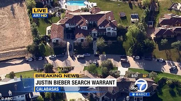Justin Bieber house sale stalls
