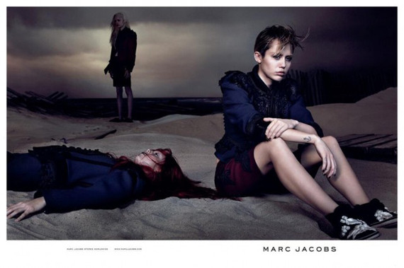 miley cyrus marc jacobs: Singer Keeps Tounge In Check, Pulls Out The Pout