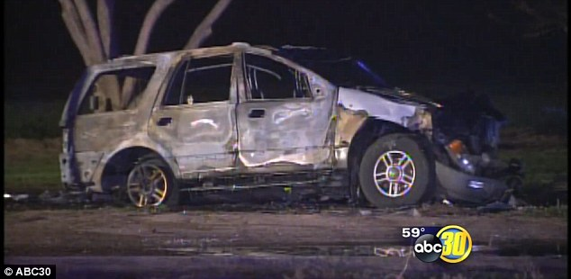 A mom and her four children have been tragically killed after their white SUV was engulfed in flames on Saturday evening after another vehicle ran a stop sign and hit them