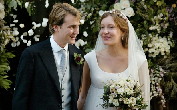 Ben and Kate Goldsmith on their wedding day in 2003.