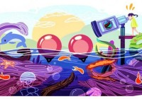 "Cindy Tang has won the first ""Doodle 4 Google Canada,"" a national competition that invites budding artists to redesign the Google.ca logo, with her image of a giant sea telescope overlooking a body of water."