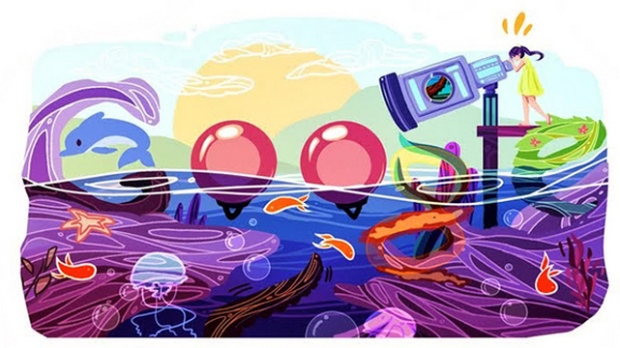 """Cindy Tang has won the first """"Doodle 4 Google Canada,"""" a national competition that invites budding artists to redesign the Google.ca logo, with her image of a giant sea telescope overlooking a body of water."""