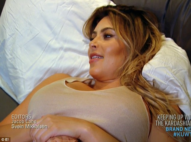 New body? Kim is seen getting laser treatment on her hands, breasts and toe on the latest episode of Keeping Up With The Kardashians