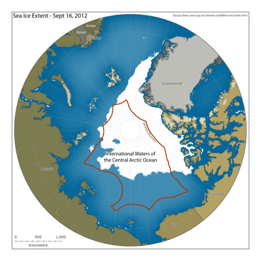 U.S. officials are pushing for a moratorium on commercial fishing in the international waters of the Arctic Ocean. (Pew Charitable Trust International Arctic Program / February 22, 2014) Also http://www.latimes.com/nation/nationnow/la-na-nn-arctic-ocean-fishing-20140222,0,7982828.story#ixzz2uF3ApAp9