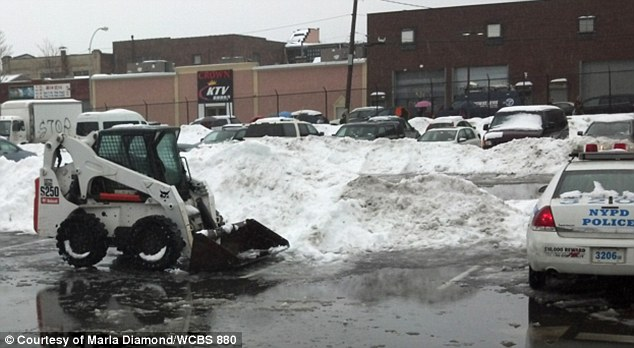 Tragic: Min Lin, who was eight months pregnant, died after this snow plow backed into her