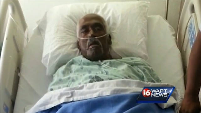 'A miracle' ... Walter Williams was pronounced dead on Wednesday but was conscious again the next day. Picture: WAPT News. Source: Supplied