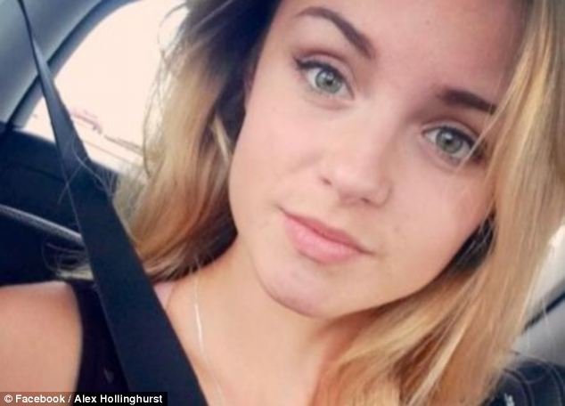 Tragedy: Alex Hollinghurst died early Saturday - but family and friends say she was murdered by Goode