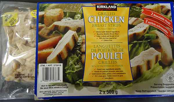 Kirkland Signature brand Grilled Chicken Breasts Recalled Over Listeria Contamination