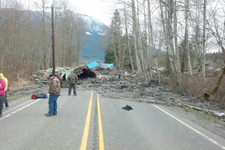 A mudslide in Washington destroyed a house Saturday morning. Washington State Patrol