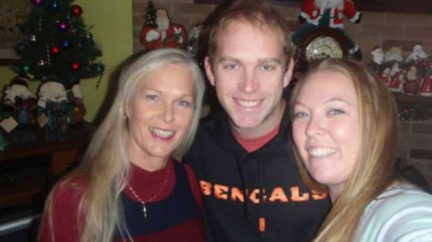Brenda Gold (left) with children Matt and Jenny Gold. Brenda Gold is 54 and trying out for the Cincinnati Bengals cheerleading squad.